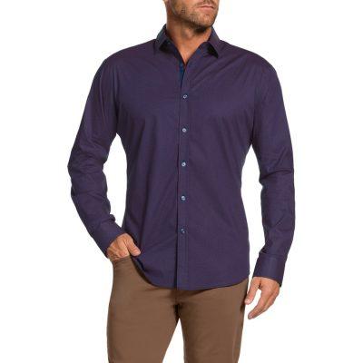 Fashion 4 Men - Tarocash Morris Stretch Slim Shirt Berry Xl