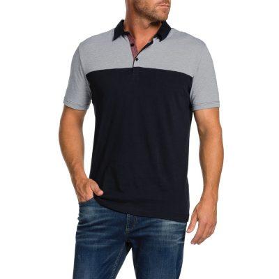 Fashion 4 Men - Tarocash Nathan Spliced Polo Navy M