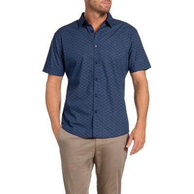 Fashion 4 Men - Tarocash Neymar Printed Shirt Navy M