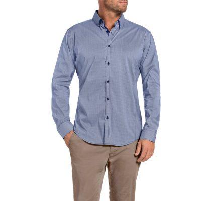 Fashion 4 Men - Tarocash Northcliff Check Stretch Shirt Navy Xxl