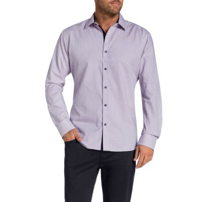 Fashion 4 Men - Tarocash Pittwater Check Shirt Navy M