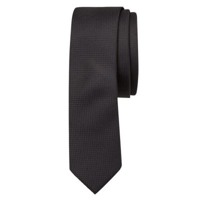 Fashion 4 Men - Tarocash Plain Tie 5 Cm Black 1