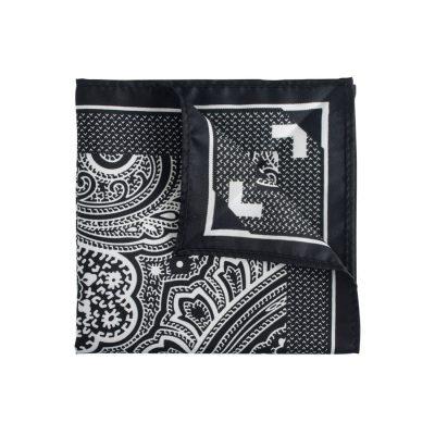 Fashion 4 Men - Tarocash Pocket Square Black 1