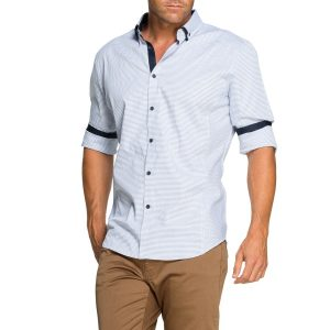 Fashion 4 Men - Tarocash Price Jacquard Shirt Sky L