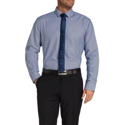 Fashion 4 Men - Tarocash Radford Textured Shirt Navy Xl