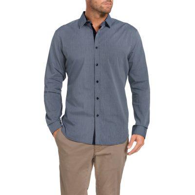 Fashion 4 Men - Tarocash Riverwood Stripe Shirt Navy L