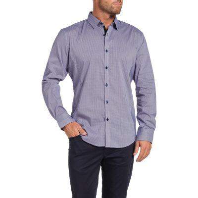 Fashion 4 Men - Tarocash Seville Stretch Check Shirt Lilac M
