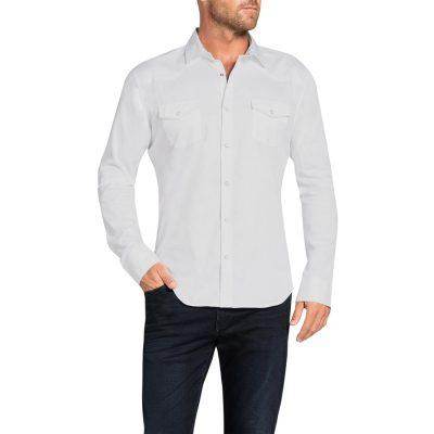 Fashion 4 Men - Tarocash Studley Slim Shirt White Xxxl