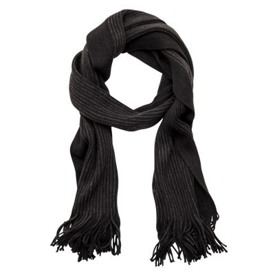 Fashion 4 Men - Tarocash Tokyo Stripe Scarf Black 1