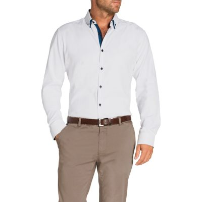 Fashion 4 Men - Tarocash Topaz Textured Shirt White L