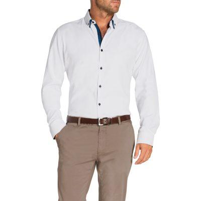 Fashion 4 Men - Tarocash Topaz Textured Shirt White Xl