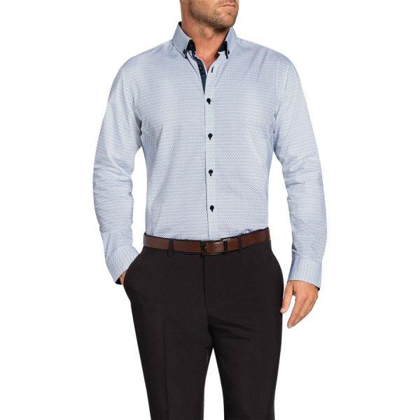Fashion 4 Men - Tarocash Virtuous Print Shirt Blue S