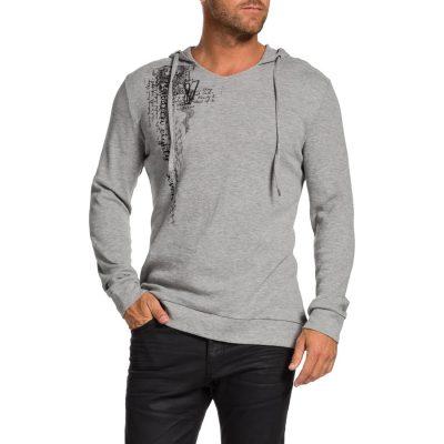 Fashion 4 Men - Tarocash Waffle Hood Long Tee Ice Xxl
