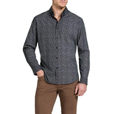 Fashion 4 Men - Tarocash Wilton Paisley Print Shirt Black Xl