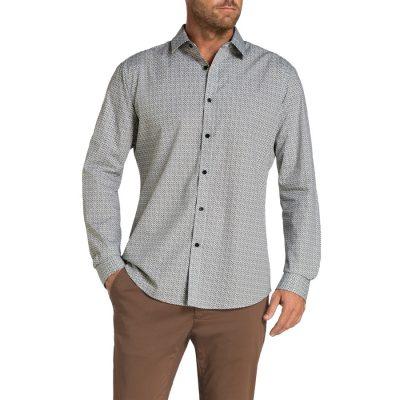 Fashion 4 Men - Tarocash York Print Shirt Black S