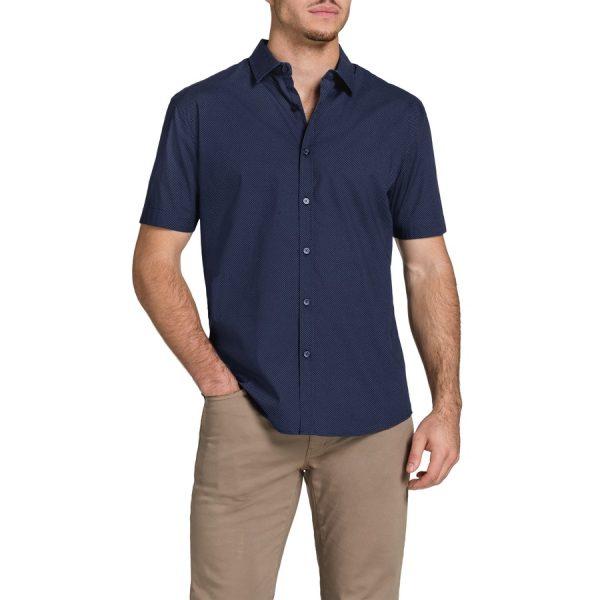 Fashion 4 Men - Tarocash Zidane Printd Shirt Navy L