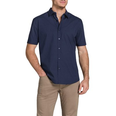 Fashion 4 Men - Tarocash Zidane Printd Shirt Navy Xxl