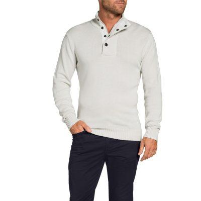 Fashion 4 Men - Tarocash 1/2 Zip Knit Ice Xxxl