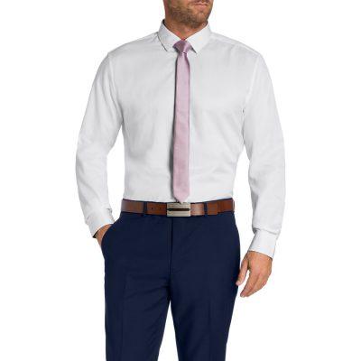 Fashion 4 Men - Tarocash Andy Textured Shirt White L