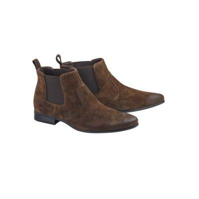 Fashion 4 Men - Tarocash Archie Suede Gusset Boot Chocolate 11