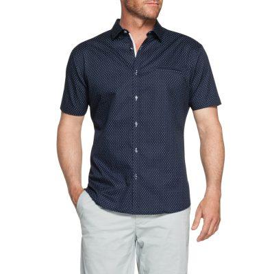 Fashion 4 Men - Tarocash Aries Print Shirt Navy 5 Xl
