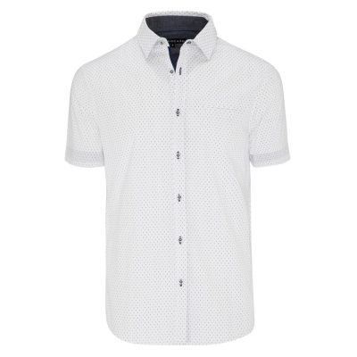 Fashion 4 Men - Tarocash Aries Print Shirt White Xxl
