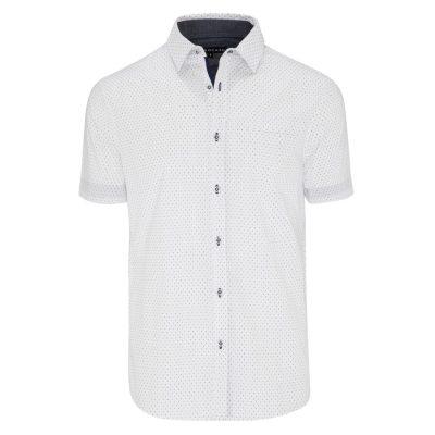 Fashion 4 Men - Tarocash Aries Print Shirt White Xxxl