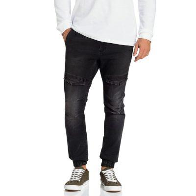 Fashion 4 Men - Tarocash Axel Cuffed Pocket Jean Black 34