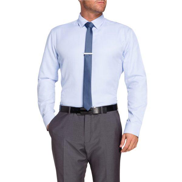 Fashion 4 Men - Tarocash Baandee Dobby Dress Shirt Sky Xxl