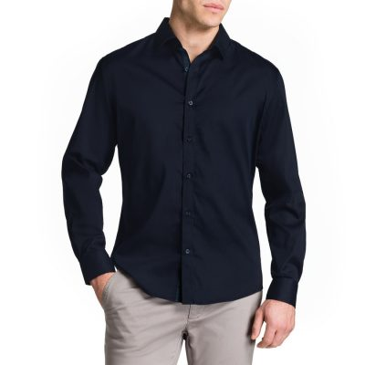 Fashion 4 Men - Tarocash Bahamas Slim Shirt Navy Xl