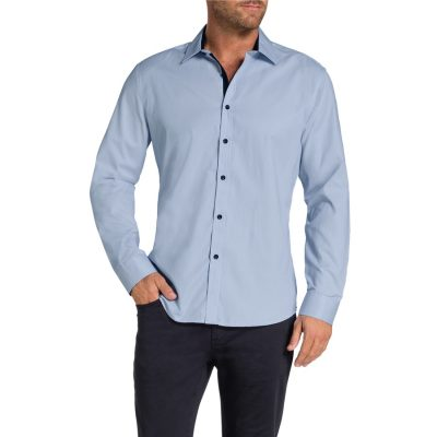 Fashion 4 Men - Tarocash Bart Textured Shirt Blue Xl