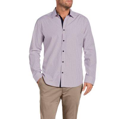 Fashion 4 Men - Tarocash Baxter Check Shirt Red S