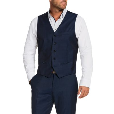 Fashion 4 Men - Tarocash Baxter Waistcoat Midnight Xs