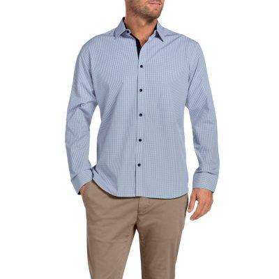 Fashion 4 Men - Tarocash Beatty Check Shirt Blue Xxl
