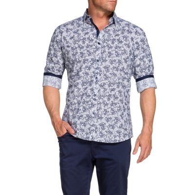 Fashion 4 Men - Tarocash Bernard Paisley Shirt Navy Xxl
