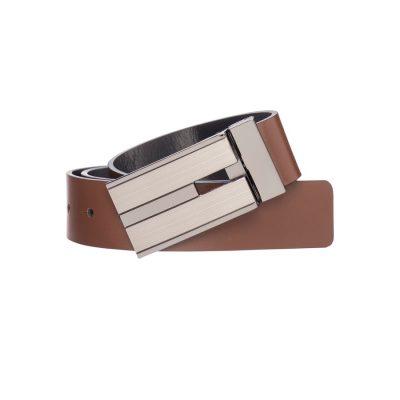Fashion 4 Men - Tarocash Bourbon Reversible Belt Tan/Black 44