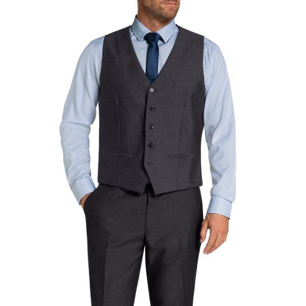 Fashion 4 Men - Tarocash Brandon Waistcoat Charcoal L