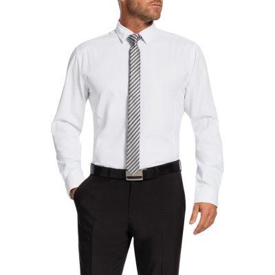 Fashion 4 Men - Tarocash Bunbury Slim Dress Shirt White Xl