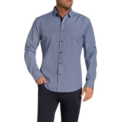 Fashion 4 Men - Tarocash Carpo Textured Shirt Navy Xxl