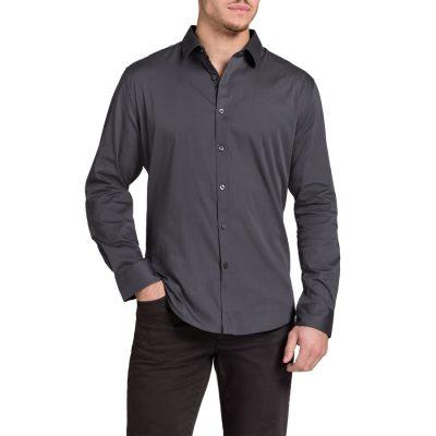 Fashion 4 Men - Tarocash Carribean Shirt Charcoal M