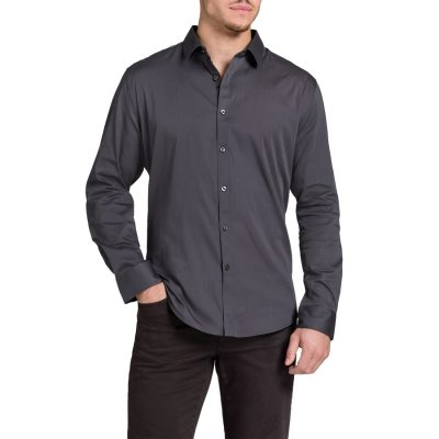 Fashion 4 Men - Tarocash Carribean Shirt Charcoal Xs