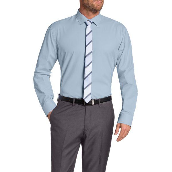 Fashion 4 Men - Tarocash Caspian Dress Shirt Sky 5 Xl