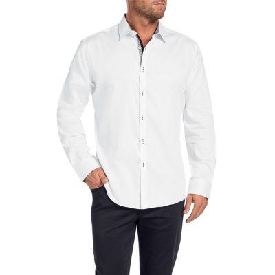 Fashion 4 Men - Tarocash Chad Textured Shirt White L