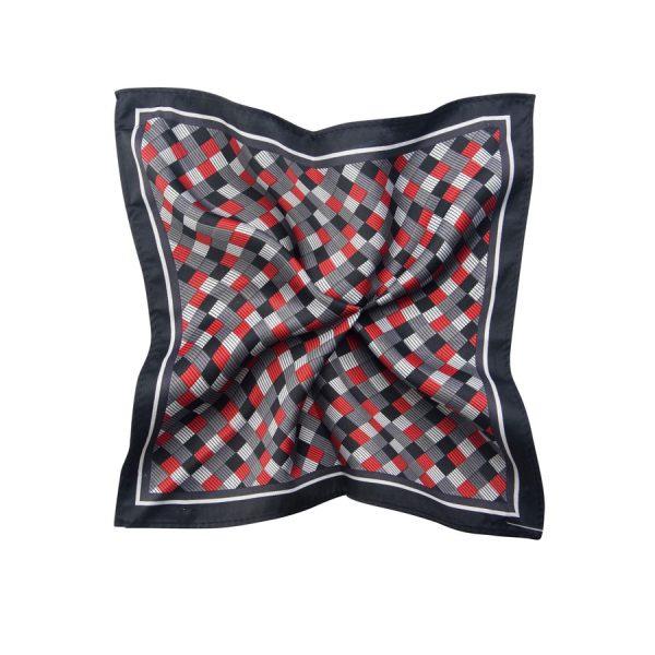 Fashion 4 Men - Tarocash Check Pocket Square Red 1