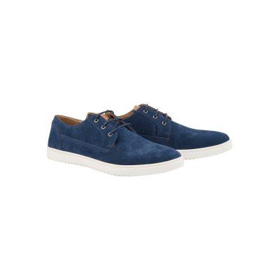 Fashion 4 Men - Tarocash Costa Suede Casual Shoe Navy 8