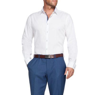 Fashion 4 Men - Tarocash Crawley Textured Shirt White M