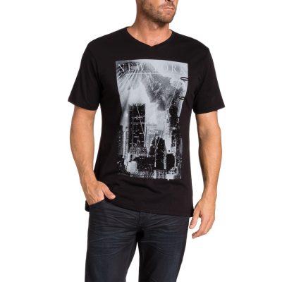 Fashion 4 Men - Tarocash Dark Night Print Tee Black M