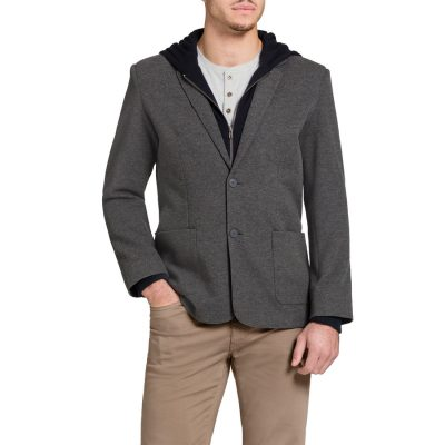 Fashion 4 Men - Tarocash Delaware Hooded Jacket Grey L