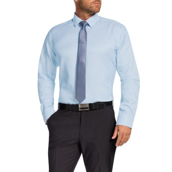 Fashion 4 Men - Tarocash Delmar Textured Dress Shirt Aqua L