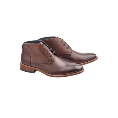 Fashion 4 Men - Tarocash Digby Lace Up Boot Chocolate 7